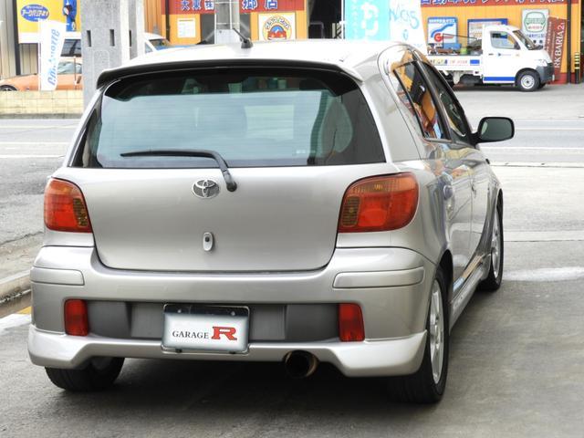 トヨタ ヴィッツ RS BLITZスーパーチャージャー 社外マフラー 5速MT