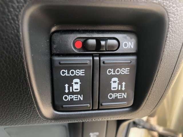 便利な両側電動スライドドアです。ON/OFF制御が可能なのでお子様がいるご家庭でも安心。運転席のほかにキーレスでも開閉可能です。