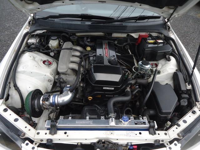 機関良好エンジン!タイミングベルト交換済!HPIオイルクーラー!トラストAEM燃料ポンプ!トーヨーオールアルミラジエター!強化クラッチ!フライホイール!