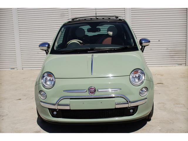 限定車特別色ビンテージグリーンのFIAT500HAPPY入庫しました