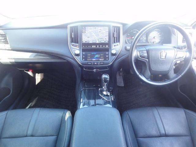 トヨタ クラウンハイブリッド アスリートS ハイブリット 黒革 エアロ 車高調 20AW