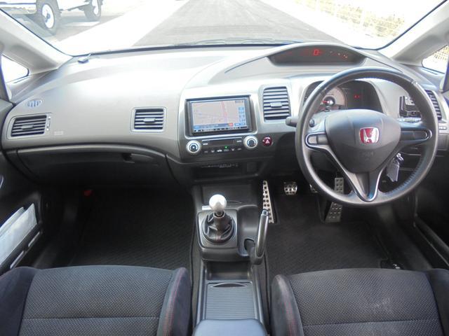 タイプR 車高調 レイズ18AW マフラー 社外SDナビ(15枚目)