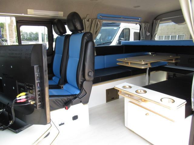 かーいんてりあ高橋 リラックスワゴンVP キャンピングカー バンコン 2700cc 2WD 10人乗車 3人就寝 テレビ 350Wインバーター サブバッテリー 走行充電 メモリーナビ フルセグ ETC(11枚目)