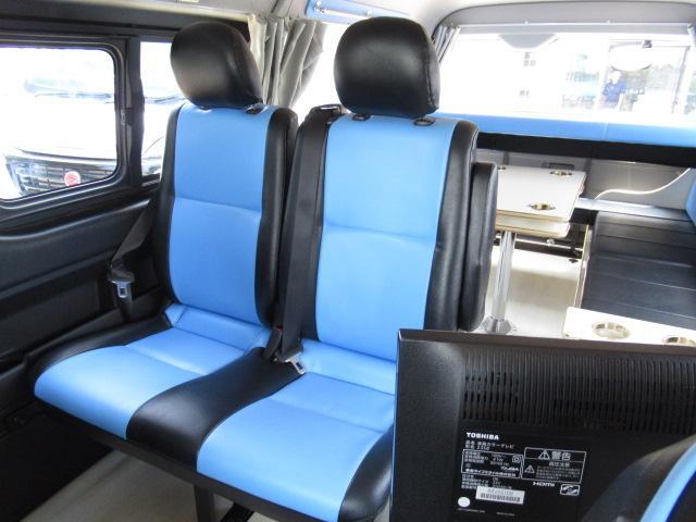 かーいんてりあ高橋 リラックスワゴンVP キャンピングカー バンコン 2700cc 2WD 10人乗車 3人就寝 テレビ 350Wインバーター サブバッテリー 走行充電 メモリーナビ フルセグ ETC(12枚目)