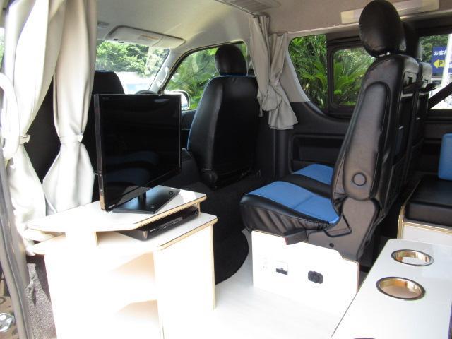 かーいんてりあ高橋 リラックスワゴンVP キャンピングカー バンコン 2700cc 2WD 10人乗車 3人就寝 テレビ 350Wインバーター サブバッテリー 走行充電 メモリーナビ フルセグ ETC(47枚目)