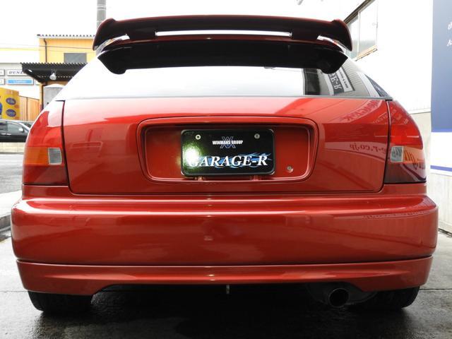 タイプR 車高調 レカロ HDDナビ ETC 社外ヘッドライト HID タイミングベルト交換済 コダワリの前期型EK9 規制前マフラーが装着できるのは前期だけ(10枚目)