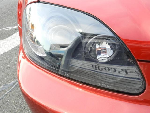 タイプR 車高調 レカロ HDDナビ ETC 社外ヘッドライト HID タイミングベルト交換済 コダワリの前期型EK9 規制前マフラーが装着できるのは前期だけ(28枚目)