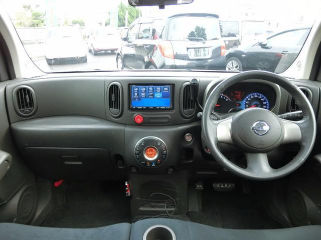 日産 キューブ 15G ガラスルーフ 社外HDDナビ ETC ワンセグ