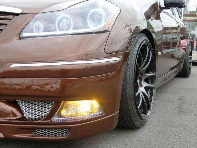 350GT 黒革 Kブレイクエアロ フェンダー加工 エアサス(10枚目)