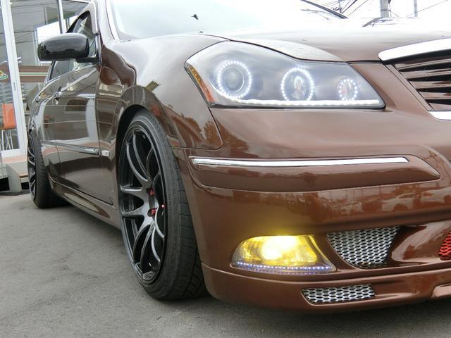 350GT 黒革 Kブレイクエアロ フェンダー加工 エアサス(11枚目)