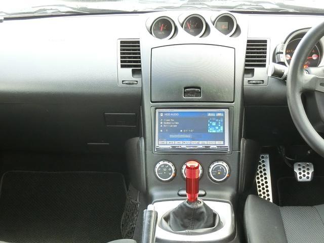 ベースグレード 6速MT 19インチアルミ GT-R風フルエアロ 社外マフラー タイミングチェーン VQ35 キーレス HDDナビ MOMOステ 電格ミラー(11枚目)