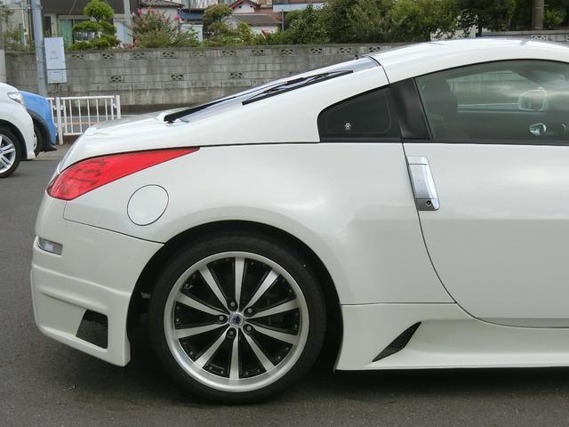 ベースグレード 6速MT 19インチアルミ GT-R風フルエアロ 社外マフラー タイミングチェーン VQ35 キーレス HDDナビ MOMOステ 電格ミラー(21枚目)