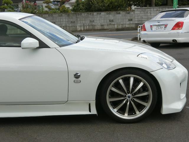 ベースグレード 6速MT 19インチアルミ GT-R風フルエアロ 社外マフラー タイミングチェーン VQ35 キーレス HDDナビ MOMOステ 電格ミラー(22枚目)