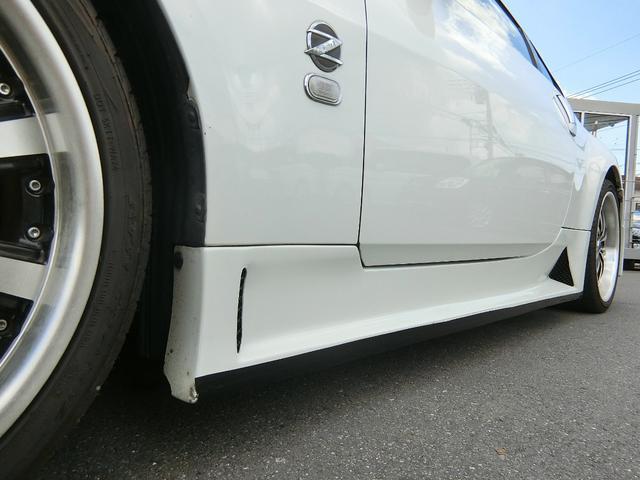 ベースグレード 6速MT 19インチアルミ GT-R風フルエアロ 社外マフラー タイミングチェーン VQ35 キーレス HDDナビ MOMOステ 電格ミラー(28枚目)
