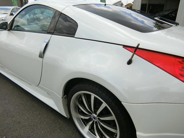 ベースグレード 6速MT 19インチアルミ GT-R風フルエアロ 社外マフラー タイミングチェーン VQ35 キーレス HDDナビ MOMOステ 電格ミラー(29枚目)