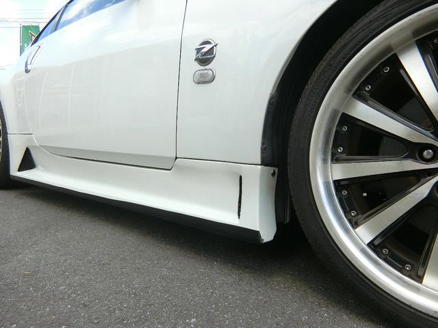 ベースグレード 6速MT 19インチアルミ GT-R風フルエアロ 社外マフラー タイミングチェーン VQ35 キーレス HDDナビ MOMOステ 電格ミラー(33枚目)