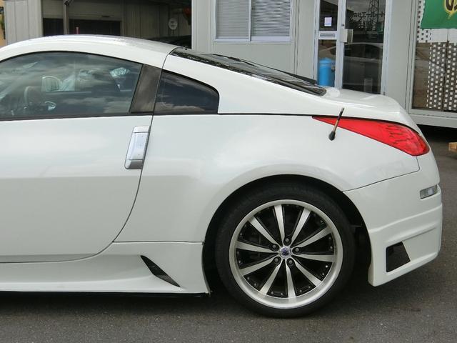 ベースグレード 6速MT 19インチアルミ GT-R風フルエアロ 社外マフラー タイミングチェーン VQ35 キーレス HDDナビ MOMOステ 電格ミラー(42枚目)