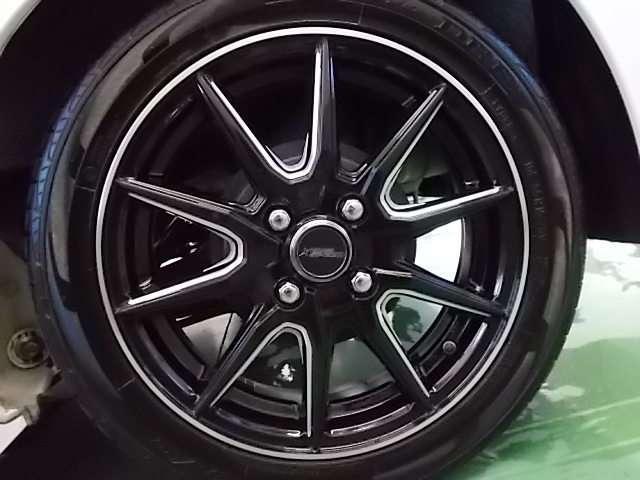 社外ブラックアルミホイール タイヤ溝バッチリ