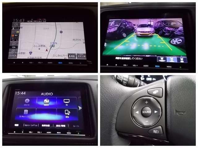 X・ホンダセンシング 元試乗車 ナビ連動ドライブレコーダー Rカメラ ギャザズVXM-207VFEI 8インチ画面 フルセグTV アップルカープレイ(2枚目)