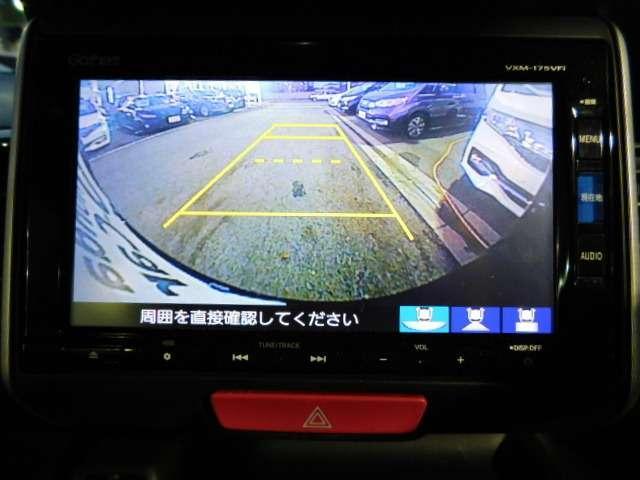 リアカメラももちろん装着済み 見通しの悪い場所での駐車や夜間の車庫入れをサポートいたします