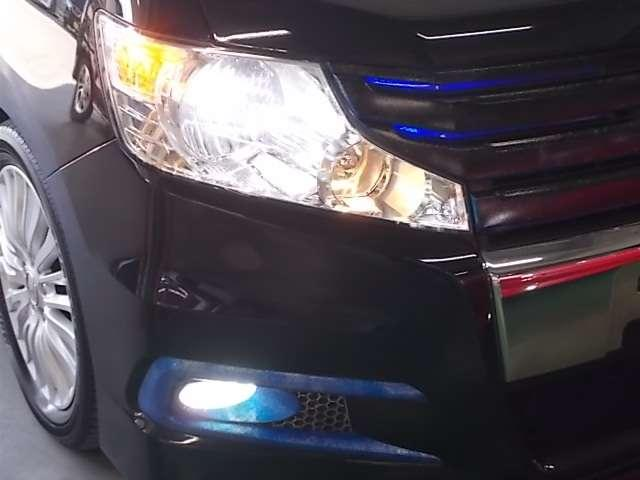 HIDヘッドライトとフォグライトが安全な夜間走行をサポートしてくれます♪