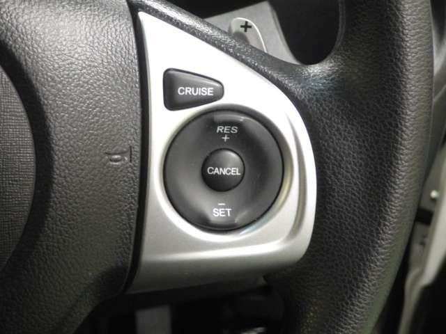 クルーズコントロール【自動定速走行装置】が付いていますので高速道路の巡航時にはとても楽チンです♪燃費の向上にも一役かってくれますよ!