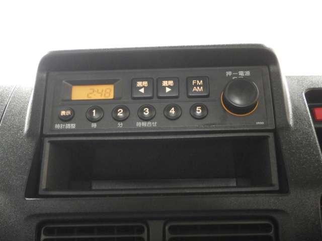 AMラジオFMラジオが装備されています
