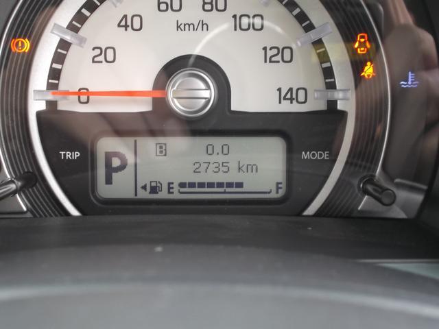 レトロ感のあるメーター。中央の液晶にはタコメーター、燃費計などいろいろな情報を表示できます。