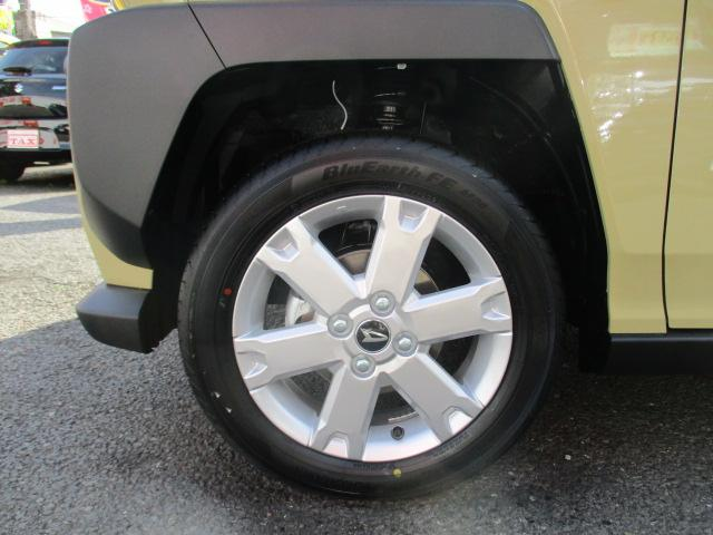 G ガラスルーフ・フードガーニッシュ(メッキ)付・ルーフレール・アイドリングストップ・スマートキー・プッシュスタート・前席シートヒーター・革巻きステアリング・ステリモ・15インチAW・届出済み未使用車(16枚目)