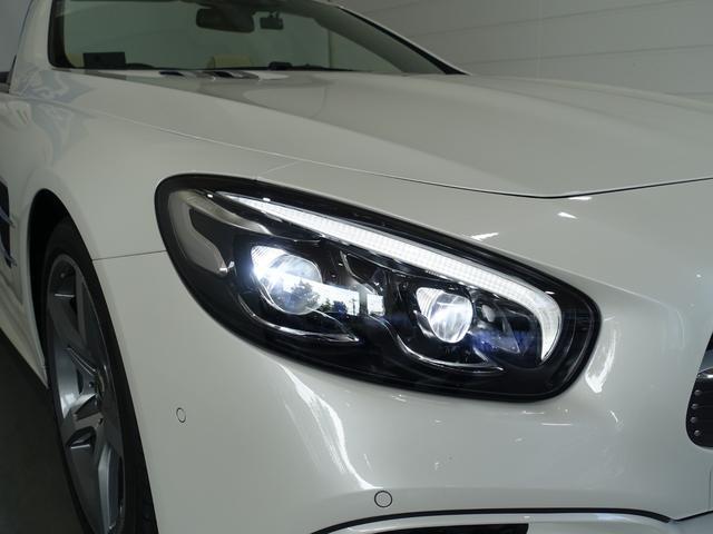 SL400 禁煙車 メルセデスケア付き レーダーセーフティPKG パノラミックバリオルーフ AMGスタイリングPKG ナッパレザーシート メモリー付パワーシート 純正HDDナビ・フルセグ ダイヤモンドホワイト(15枚目)