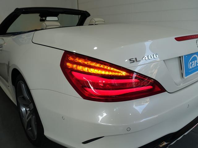 SL400 禁煙車 メルセデスケア付き レーダーセーフティPKG パノラミックバリオルーフ AMGスタイリングPKG ナッパレザーシート メモリー付パワーシート 純正HDDナビ・フルセグ ダイヤモンドホワイト(33枚目)