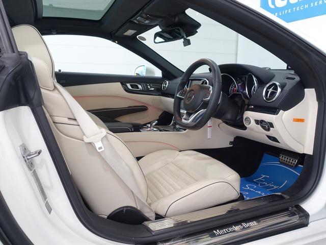 SL400 禁煙車 メルセデスケア付き レーダーセーフティPKG パノラミックバリオルーフ AMGスタイリングPKG ナッパレザーシート メモリー付パワーシート 純正HDDナビ・フルセグ ダイヤモンドホワイト(49枚目)