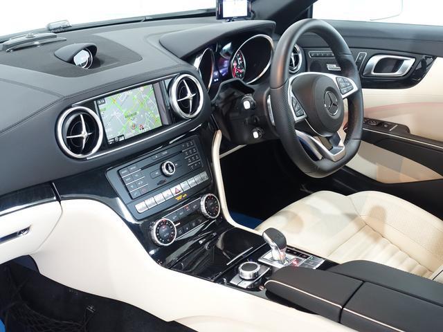 SL400 禁煙車 メルセデスケア付き レーダーセーフティPKG パノラミックバリオルーフ AMGスタイリングPKG ナッパレザーシート メモリー付パワーシート 純正HDDナビ・フルセグ ダイヤモンドホワイト(75枚目)