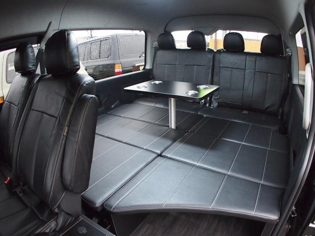 トヨタ ハイエースワゴン GL FD-BOX0 ベッド テーブル付カスタム 車中泊にも