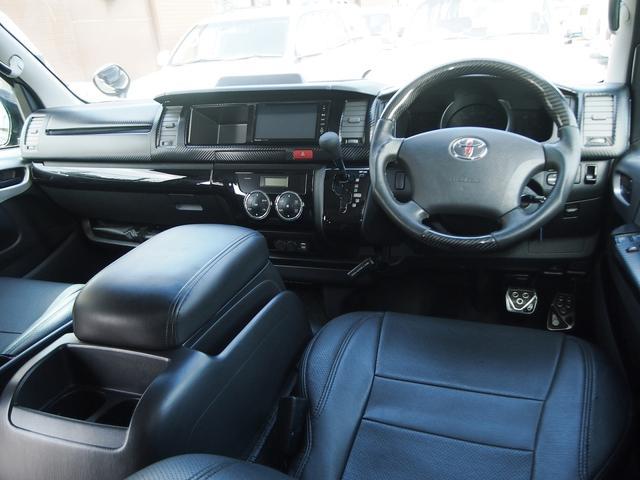 トヨタ ハイエースワゴン GL ベッドキット ナビ アルミ シートカバー カスタム