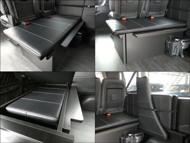 GL 床張り ベッド テーブル付きflexdreamライトキャンピングカーFD-BOX0 BrooklynStyleブラックデニムシートカバー LEDルームランプ アルミ&ナスカータイヤセット(9枚目)