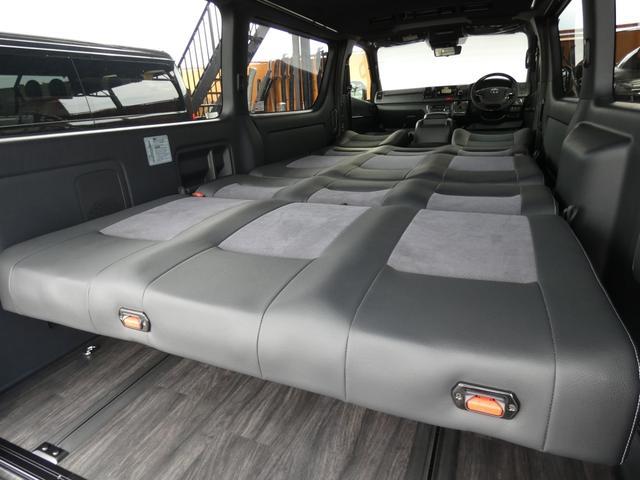 スーパーGL ダークプライム flexdreamライトキャンピングカーFD-BOX5 4ナンバー8人乗り仕様車 後席T-REVOシートダークプライム調縫製仕立て(3枚目)