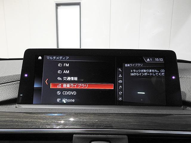 タッチパネル式BMW純正iDiveHDDナビ/リアビューカメラ、前後パーキングンサー、ミュージックサーバー、Bluetoothオーディオ、ハンズフリーフォン付き