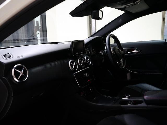 A180 スポーツ ナイトPKG 正規ディーラー車 1オーナー カルサイトホワイト 右ハンドル 純正ナビ&TV Bカメラ ETC メモリー付きPシート/D ディストロニック+ AMG18インチAW(14枚目)