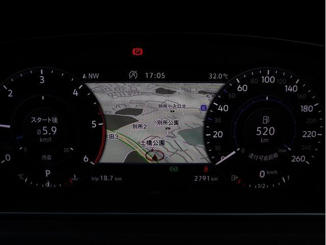 デジタルメータ付き車両になります。メーター内にお車の情報やナビゲーションを表記する事が出来ます。ドライバーは目線を落とさずに情報が得る事が可能となり運転に集中する事が出来ます