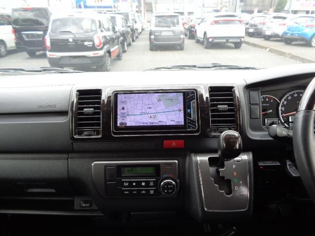 スーパーGL ダークプライム SDナビ フルセグTV Bluetooth バックカメラ ETC ドライブレコーダー Wエアバック 100V 小窓付き両側スライド スマートキー 純正LEDヘッドライト ステアリングスイッチ 1オナ(18枚目)