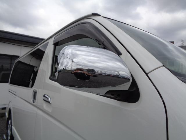 スーパーGL ダークプライム SDナビ フルセグTV Bluetooth バックカメラ ETC ドライブレコーダー Wエアバック 100V 小窓付き両側スライド スマートキー 純正LEDヘッドライト ステアリングスイッチ 1オナ(35枚目)