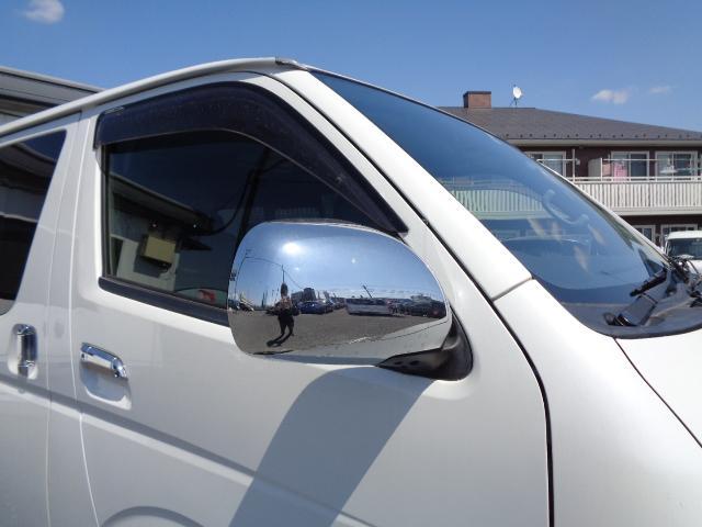スーパーGL ダークプライム SDナビ 地デジTV バックカメラ Bluetooth ETC 純正フリップダウンモニター Wエアバック スマートキー 小窓付き両側スライド 純正LEDヘッドライト ハーフレザー 純正15AW(32枚目)