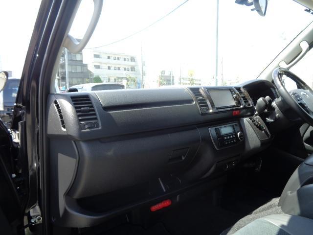 スーパーGL ダークプライム SDナビ 地デジTV バックカメラ Bluetooth ETC スマートキー 小窓付き両側スライドドア ハーフレザー TRDエアロ TRDマフラー 純正LEDヘッドライト 15AW(14枚目)