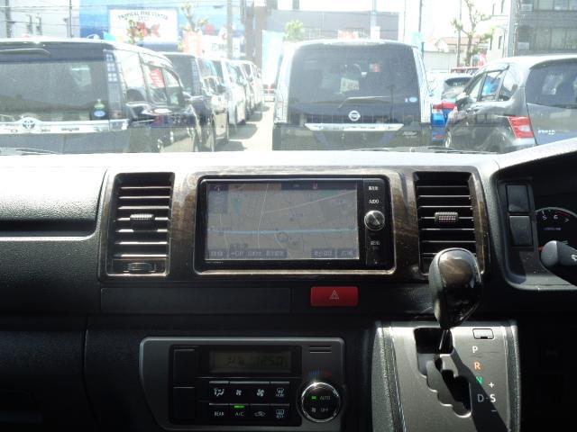 スーパーGL ダークプライム SDナビ 地デジTV バックカメラ Bluetooth ETC スマートキー 小窓付き両側スライドドア ハーフレザー TRDエアロ TRDマフラー 純正LEDヘッドライト 15AW(18枚目)