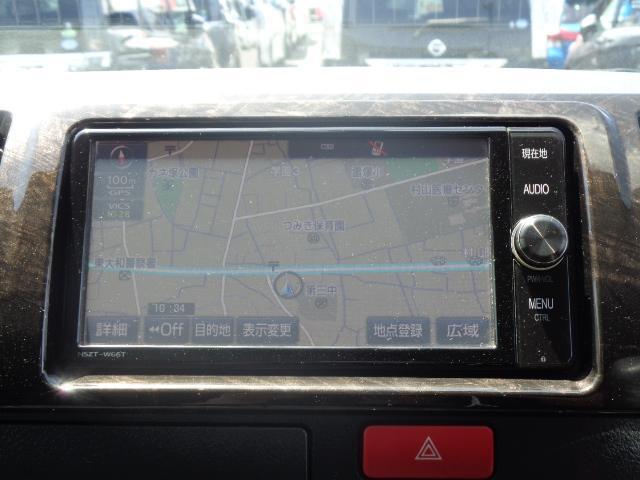 スーパーGL ダークプライム SDナビ 地デジTV バックカメラ Bluetooth ETC スマートキー 小窓付き両側スライドドア ハーフレザー TRDエアロ TRDマフラー 純正LEDヘッドライト 15AW(19枚目)