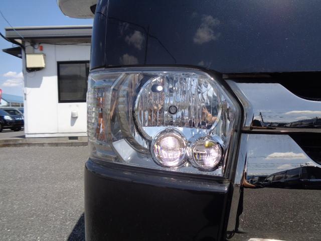 スーパーGL ダークプライム SDナビ 地デジTV バックカメラ Bluetooth ETC スマートキー 小窓付き両側スライドドア ハーフレザー TRDエアロ TRDマフラー 純正LEDヘッドライト 15AW(34枚目)