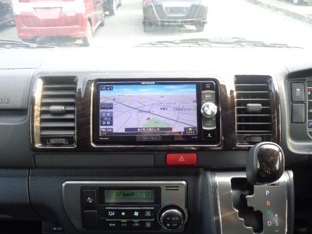 スーパーGL ダークプライムII SDナビ フルセグTV Bluetooth レーダー連動ドライブレコーダー 衝突被害軽減ブレーキ バックカメラ 助手席エアバック AC100V 小窓付き両側スライドドア 純正LEDヘッドライト ターボ(18枚目)