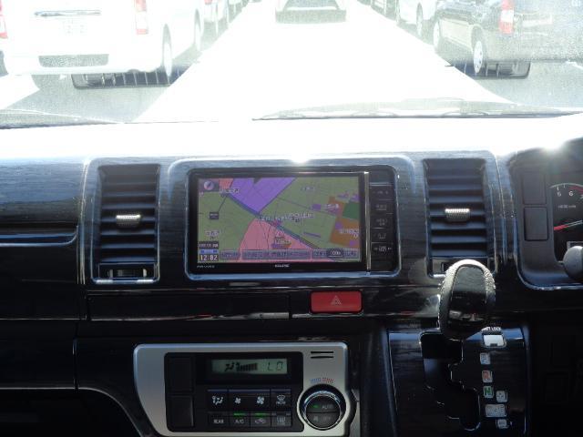 ロングスーパーGL ナビ/フルセグ/バックカメラ/Bluetooth/ETC/100V/シートカバー/両側電動スライド/後席モニター/LEDヘッドライト/社外フロントバンパー/シートカバー/自動防眩ミラー(18枚目)