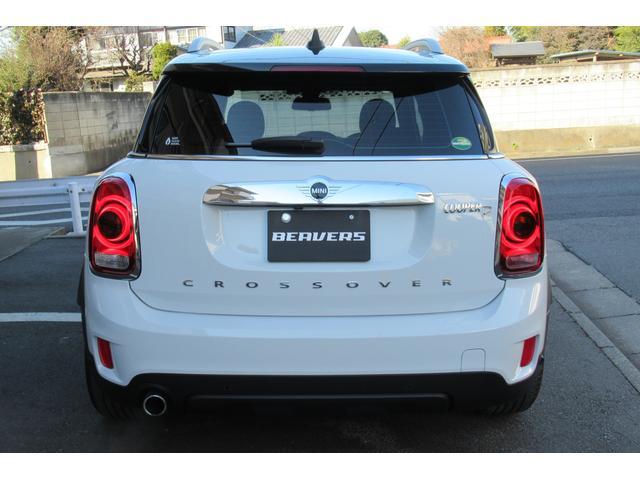 クーパーD クロスオーバー オール4 新車保証付き LEDヘッドライト ペッパーPKG ACC パワーテールゲート 純ナビBカメラ シートヒーター MINIドライブモード ブラックルーフ 4駆ディーゼル 後席USB ルーフレール(3枚目)